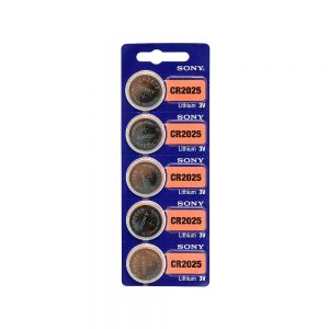 SKU 1601 CR 2025 3 Volt Sony Cell Battery (5 batteries Pack)